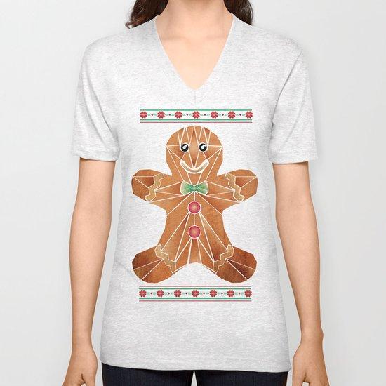 gingerbread man Unisex V-Neck