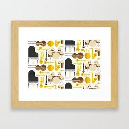 Jazz instruments Framed Art Print