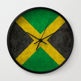 Jamaican flag, Vintage retro style Wall Clock