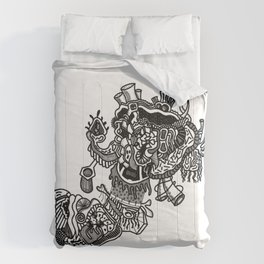 Abstract Style Corazón Crazy Comforters