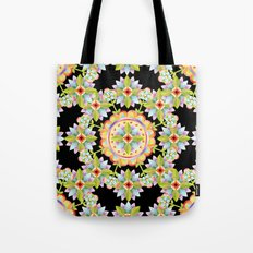 Starflower Mandala Blossoms Tote Bag