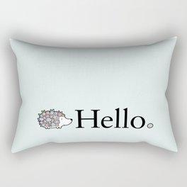 Hello Hedgehog Rectangular Pillow