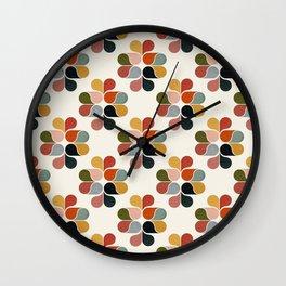 Retro geometry pattern Wall Clock