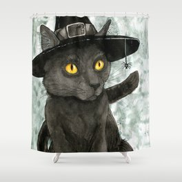 Witch's Familiar Shower Curtain