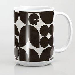 Black & White Mid Century Modern Pattern Coffee Mug