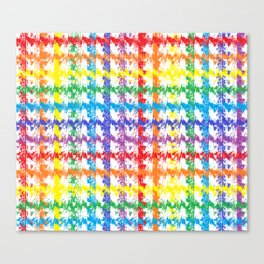 Rainbow Scratch Canvas Print