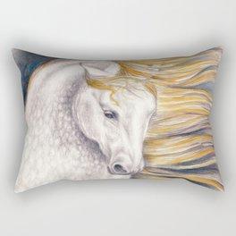 Andalusian Dapple Horse Watercolor Rectangular Pillow