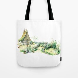 Literary Garden for Wizards and Gnomes Tote Bag