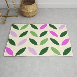 Leaves & Petals - Pink & Green Rug