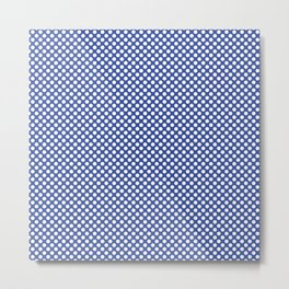 Dazzling Blue and White Polka Dots Metal Print