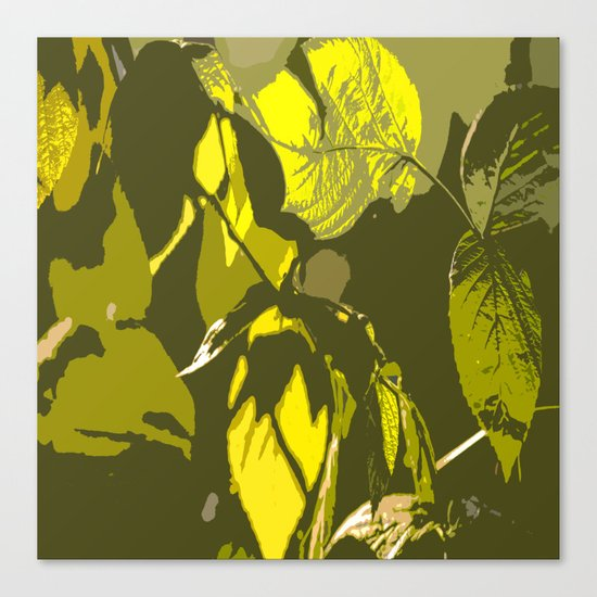 Autumn leaves bathing in sunlight Canvas Print