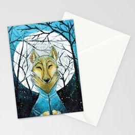 Lobo de Luna Stationery Cards