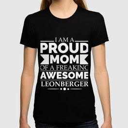 Proud mom leonberger Dog Mom Owner Mother's Day T-shirt