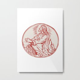 Jesus Christ Agony in the Garden Etching Metal Print