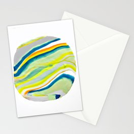 Earth Lines Marbling, Unite Stationery Cards