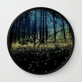 Fireflies at Twilight Photo Wall Clock