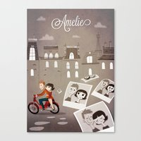 amelie Canvas Prints featuring Amelie by The Fan Wars