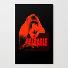 Vulnerable Mandrill Canvas Print
