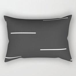 Black Mudcloth white dashes Rectangular Pillow