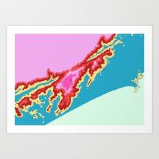 Praia Grande Art Print