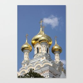 Onion Domes Alexander Nevsky Cathedral Canvas Print