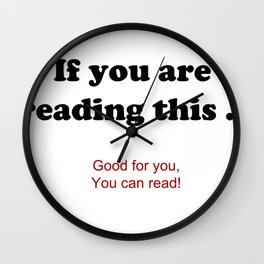 If you are reading this ... Wall Clock