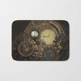 Steampunk Clocks Bath Mat