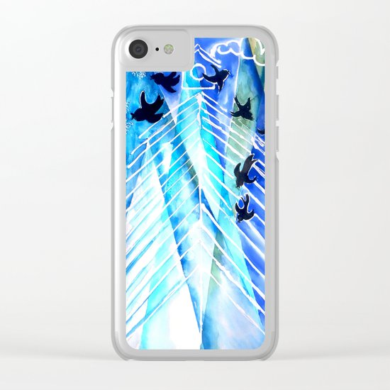 Black Birds Clear iPhone Case
