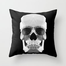 Polygon Heroes - Crystal Skull Throw Pillow