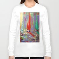 boats Long Sleeve T-shirts featuring sail boats by Michael Anthony Alvarez