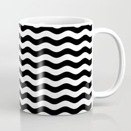 Wavy Stripes (Black/White) Coffee Mug