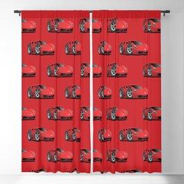 Red Hot Sports Car Cartoon Blackout Curtain