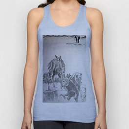 Deer Mom and the Bear cubs Unisex Tank Top