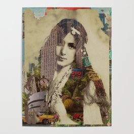 Vintage Woman Built By New York City 1 Poster