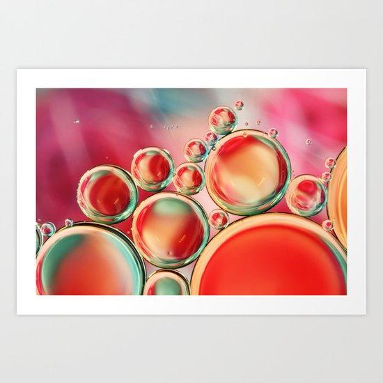 Bubble Swirls Art Print