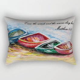 Even the Winds and Waves Rectangular Pillow
