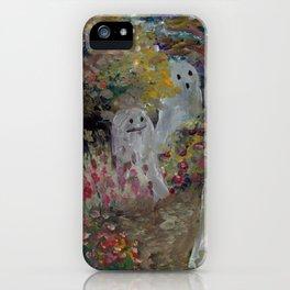 ghosts garden iPhone Case