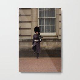 Palace Guard on Patrol at Buckingham Palace in London England Metal Print