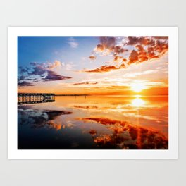 Outer Banks Sunset #1 Art Print