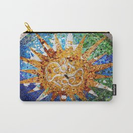 Barcelona, Spain. Parque Guell Mosaic. Carry-All Pouch