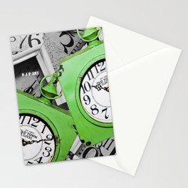 Over Lap Time Stationery Cards