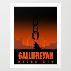 Gallifreyan unchained Art Print
