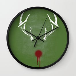 Rudolph the Bloody Nosed Reindeer Wall Clock
