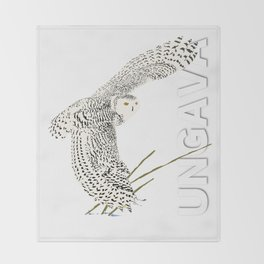 The Ungava Collection: The Snowy Owl Throw Blanket