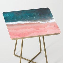 Turquoise Sea Pastel Beach III Side Table