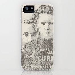 postage marie curie iPhone Case