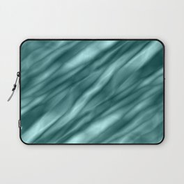 A interweaving cluster of light blue bodies on a red background. Laptop Sleeve