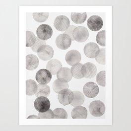 Minimalist watercolor dots Art Print