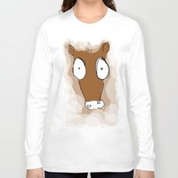 donkey Long Sleeve T-shirts featuring Donkey by Frances Roughton