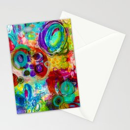 Abstract Painting - Looking forward Stationery Cards